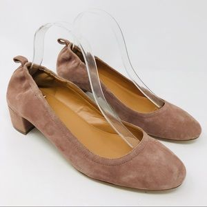 J Crew Factory Anya Suede Block Heels Shoes